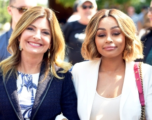 Lisa Bloom and Blac Chyna attend a pre-court hearing press conference at Los Angeles Superior Court on July 10, 2017 in Los Angeles, California.