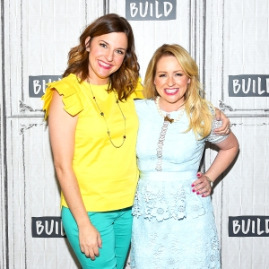 Comedic duo Kristin Hensley and Jen Smedley attend the Build Series to discuss their Summer Break Show Tour #IMOMSOHARD at Build Studio on July 19, 2017 in New York City.