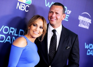"Jennifer Lopez and Alex Rodriguez attend NBC's ""World of Dance"" celebration at Delilah on September 19, 2017 in West Hollywood, California."