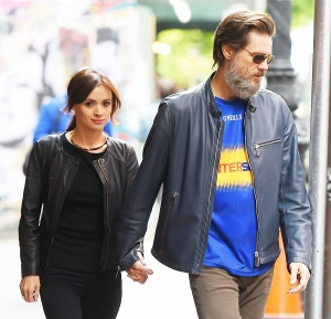 Jim Carrey and Cathriona White while taking a walk in New York City on May 21, 2015.