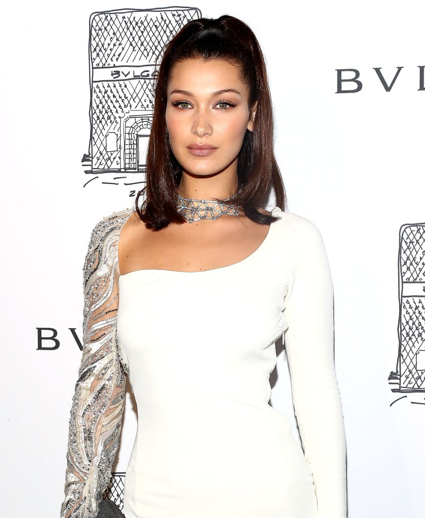 Bella Hadid attends Bulgari 5th Avenue flagship store opening
