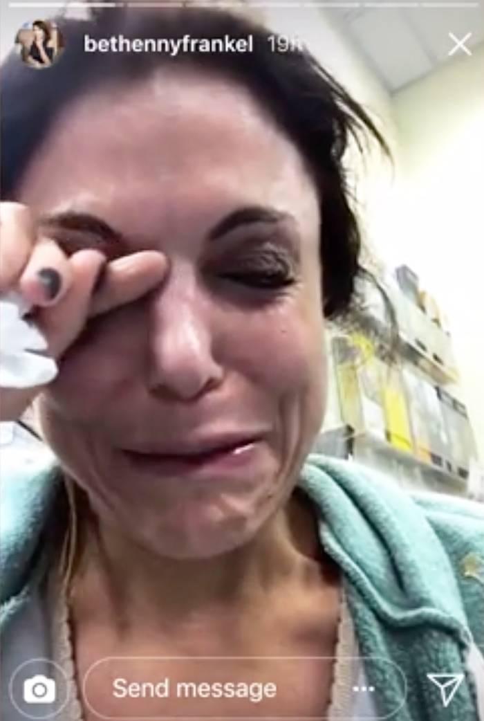 Bethenny Frankel crying