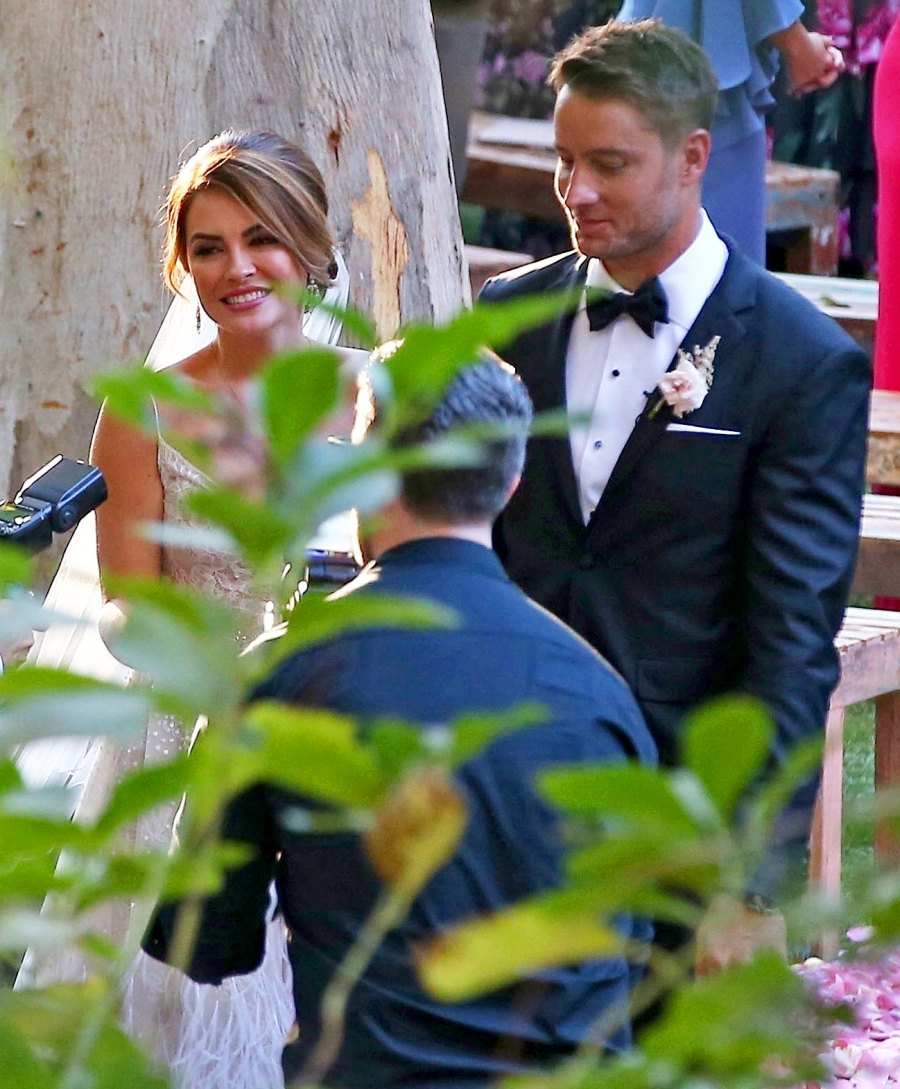 Justin Hartley ties the knot with Chrishell Stause on October 28, 2017.