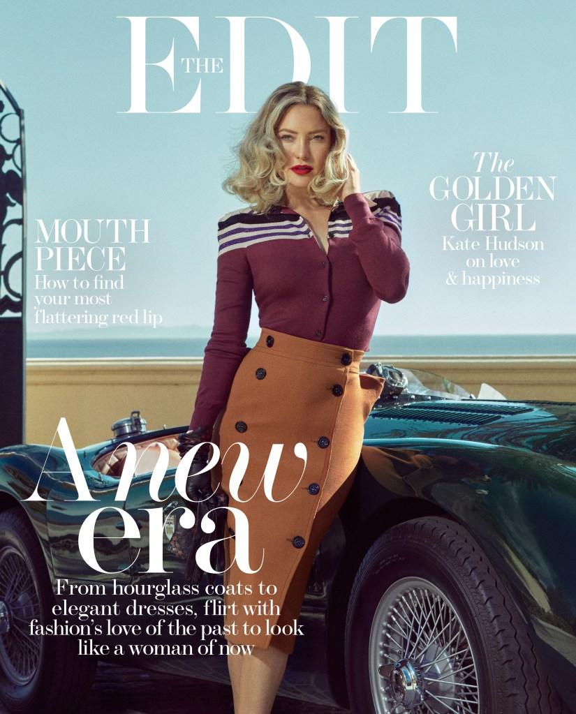 Cover_Kate Hudson wears top, skirt and gloves by Bottega Veneta.
