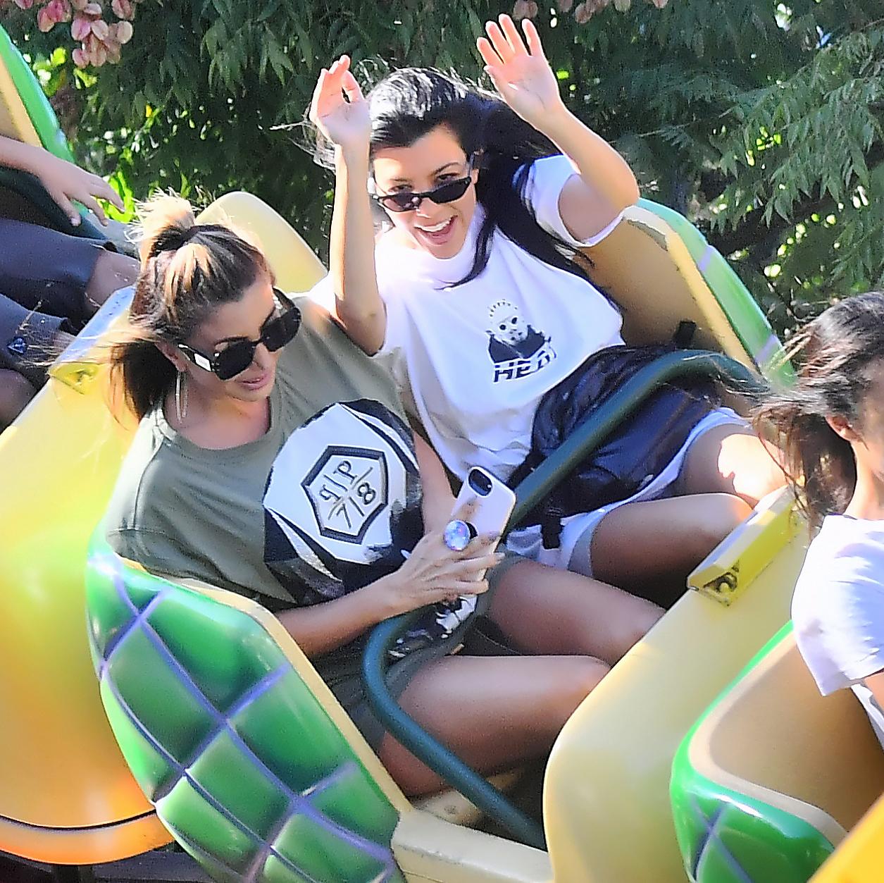 Larsa Pippen Kourtney Kardashian Kim Kardashian 37th birthday Disneyland