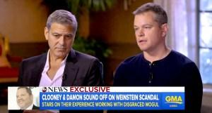 George Clooney and Matt Damon talk the Harvey Weinstein scandal on GMA.