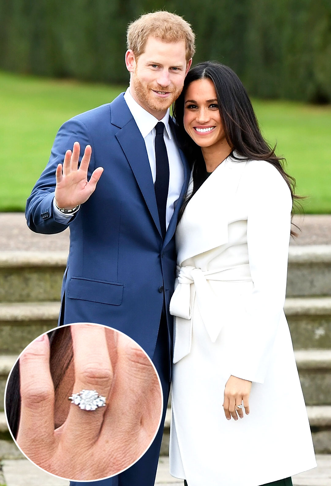markle ring rings engagement compared meghan camilla queen royalty kate values and wedding diana pri camillas middleton royal