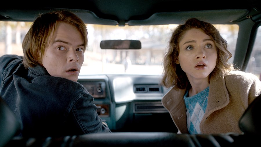 Charlie Heaton and Natalia Dyer on Stranger Things