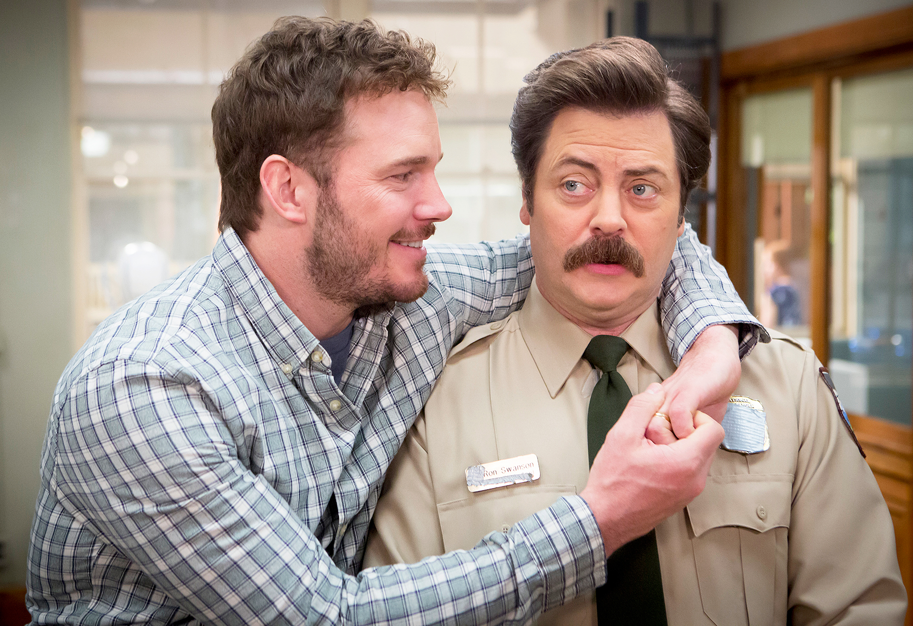 Chris Pratt Nick Offerman Parks and Rec