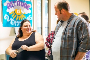 Chrissy Metz as Kate and Chris Sullivan as Toby on This Is Us