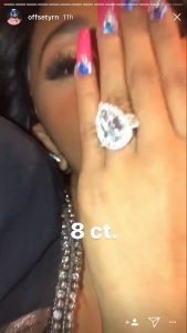 Offset, Cardi B, Engagement, Instagram