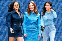 Rihanna, Julianne Moore, Kim Kardashian in denim