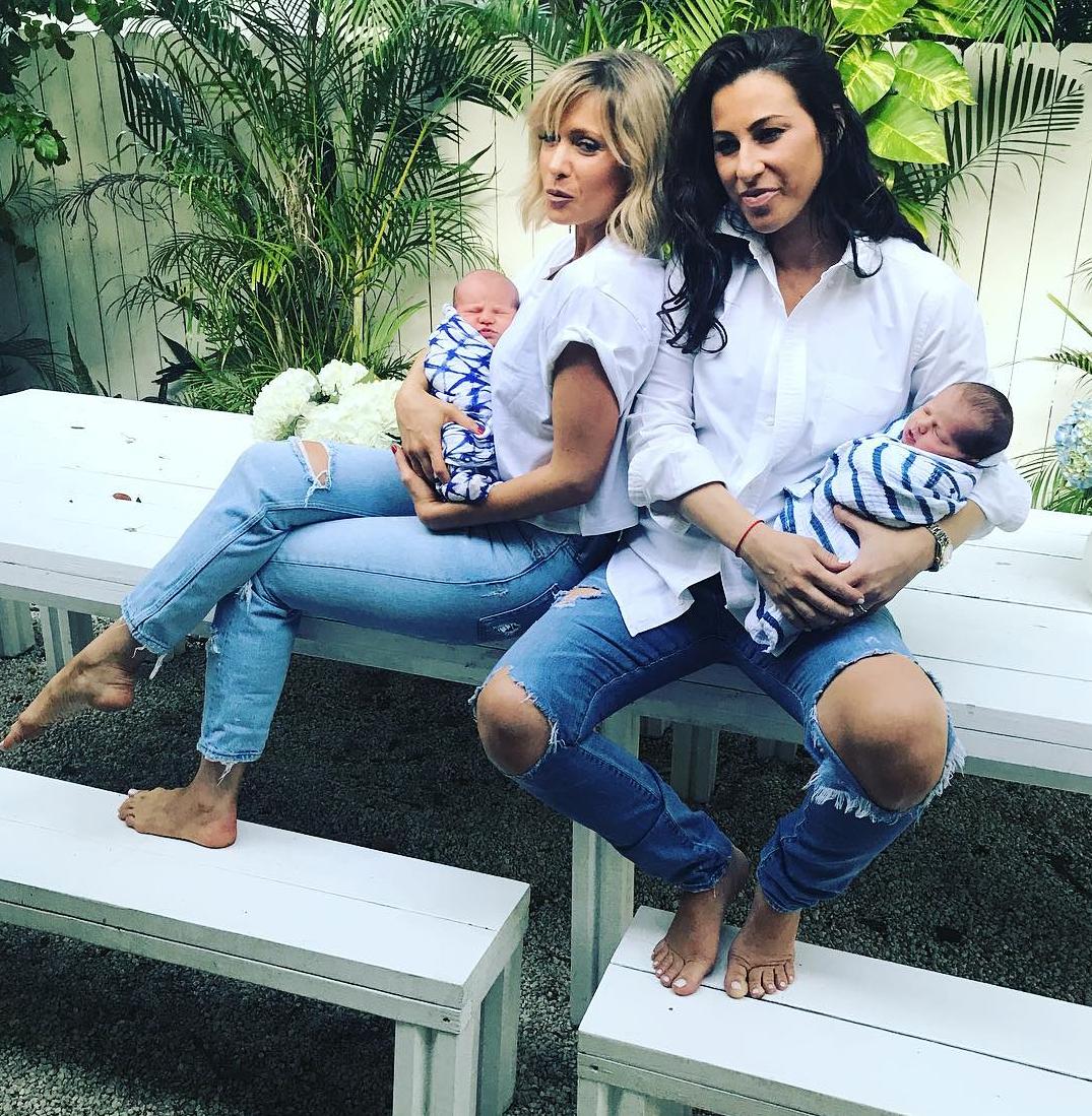 Natalie Gee Rachel Robinson newborns sons Jesse Jack
