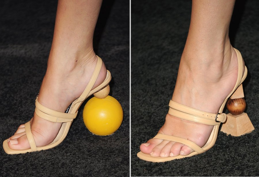 Selena Gomez shoe detail at the 3rd Annual InStyle Awards