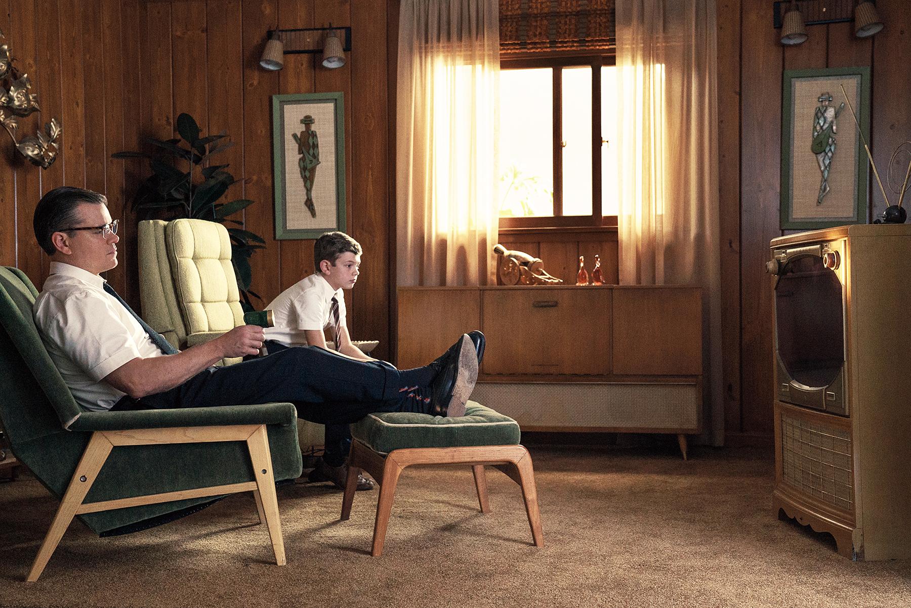 Matt Damon Noah Jupe Suburbicon