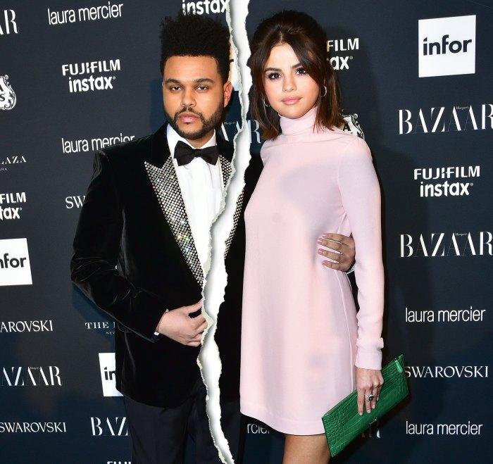 The Weeknd Selena Gomez split