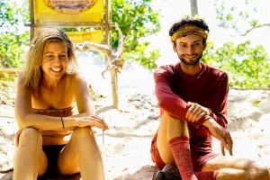 Chrissy Hofbeck and Ryan Ulrich on Survivor themed 'Heroes vs. Healers vs. Hustlers'