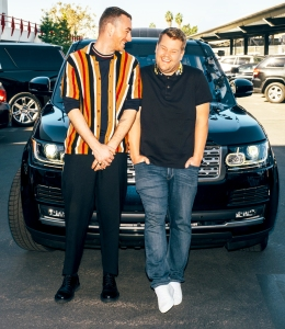Sam Smith performs in a Carpool Karaoke with James Corden during 'Late Late Show with James Corden'