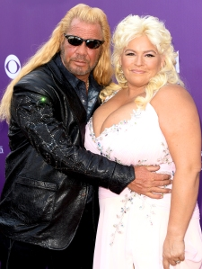 Dog the Bounty Hunter and Beth Chapman arrive at the 48th Annual Academy of Country Music Awards at the MGM Grand Garden Arena in Las Vegas, Nevada.