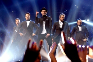 'N Sync performs during the 2013 MTV Video Music Awards at the Barclays Center in New York City.