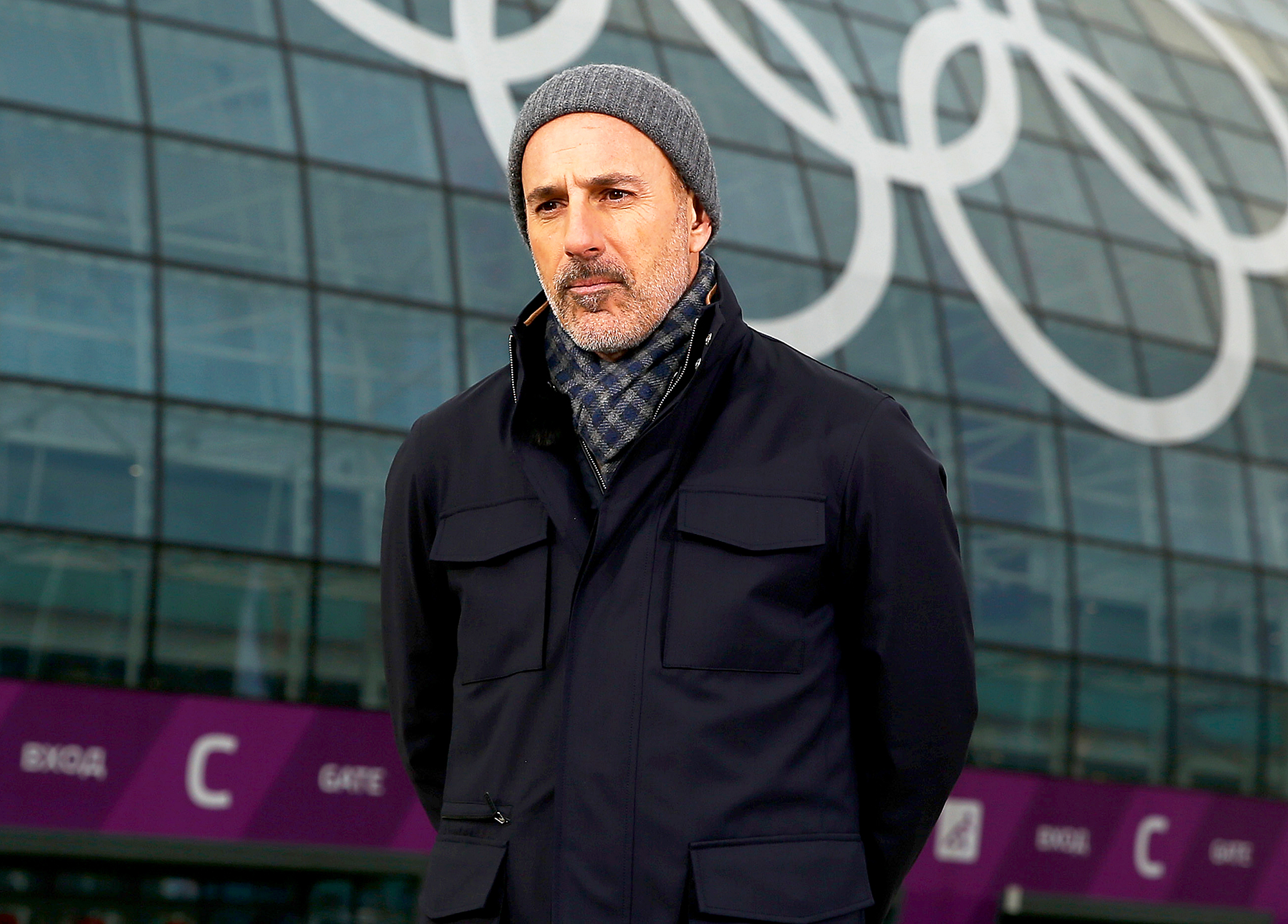 Matt Lauer during the NBC 'Today' show in the Olympic Park ahead of the Sochi 2014 Winter Olympics in Sochi, Russia.