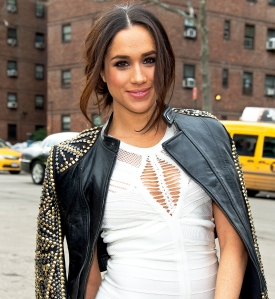 Meghan Markle attends Fall 2014 Mercedes Benz Fashion Week in New York City.