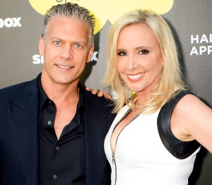 David and Shannon Beador attend the Hallmark Shoebox 29th Birthday Celebration at The Improv Comedy Club in Hollywood, California.