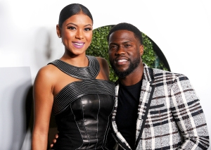 Kevin Hart and Eniko Parrish attend the GQ Men of the Year party at Chateau Marmont on December 8, 2016 in Los Angeles, California.
