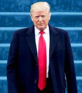 Donald Trump arrives on the West Front of the U.S. Capitol on January 20, 2017 in Washington, DC.