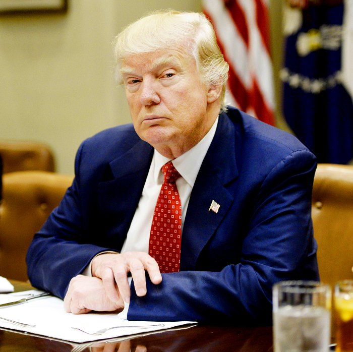 Donald Trump discusses the federal budget in the Roosevelt Room of the White House on February 22, 2017 in Washington, DC.