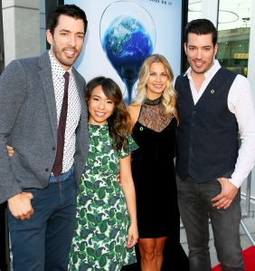 "Drew Scott, Linda Phan, Jacinta Kuznetsov and Jonathan Scott attend a screening ""An Inconvenient Sequel: Truth To Power"" on July 25, 2017 in Hollywood, California."