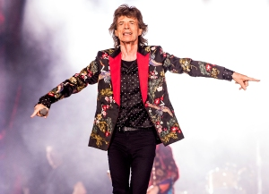 Mick Jagger of The Rolling Stones performs live on stage at U Arena on October 19, 2017 in Nanterre, France.