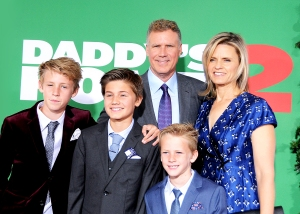 Will Ferrell, wife Viveca Paulin and their sons Magnus Mattias and Axel attend the premiere of 'Daddy's Home 2' at Regency Village Theatre on November 5, 2017 in Westwood, California.