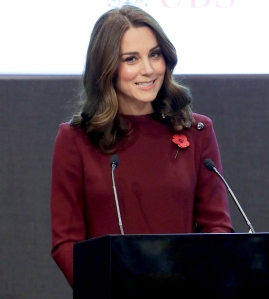 Catherine, Duchess Of Cambridge speaks at the annual Place2Be School Leaders Forum at UBS London on November 8, 2017 in London, England.