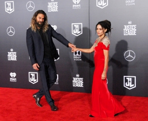 Jason Momoa and Lisa Bonet attend the premiere of Warner Bros. Pictures' 'Justice League' at Dolby Theatre on November 13, 2017 in Hollywood, California.