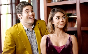 Adam Devine and Sarah Hyland on Modern Family