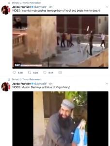 Donald Trump Retweets Controversial Anti-Muslim Videos