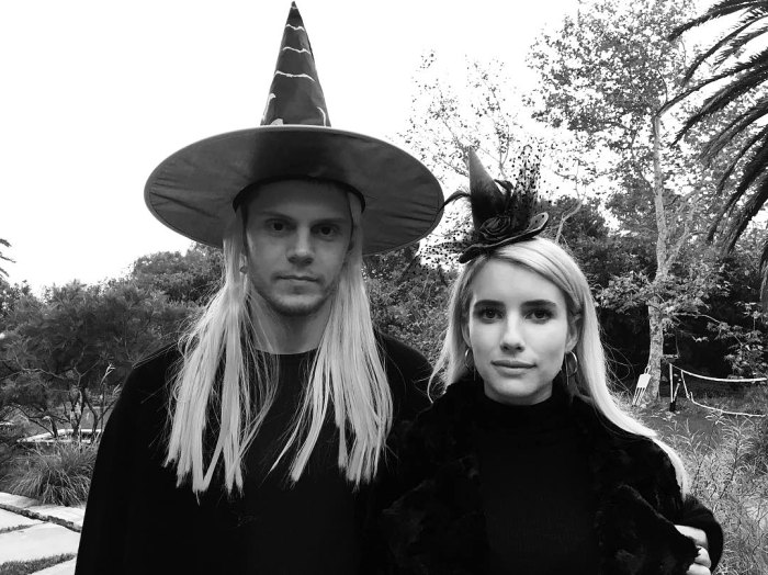 Emma Roberts Evan Peters Witch It Up For Halloween Photo