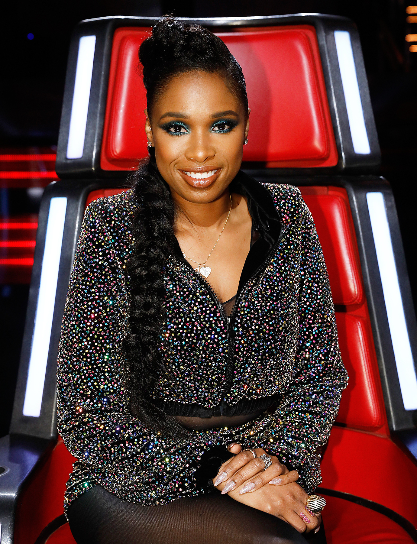 Jennifer Hudson Returns to 'The Voice' for Live Taping ...