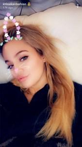 Khloe Kardashian/ Snapchat