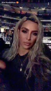 Kim Kardashian, North West, Katy Perry, Concert, Snapchat