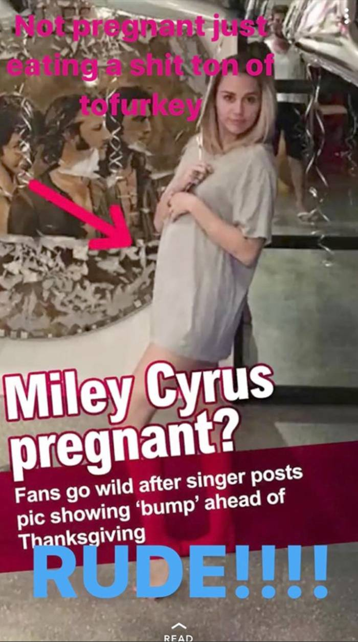 Miley Instagram story