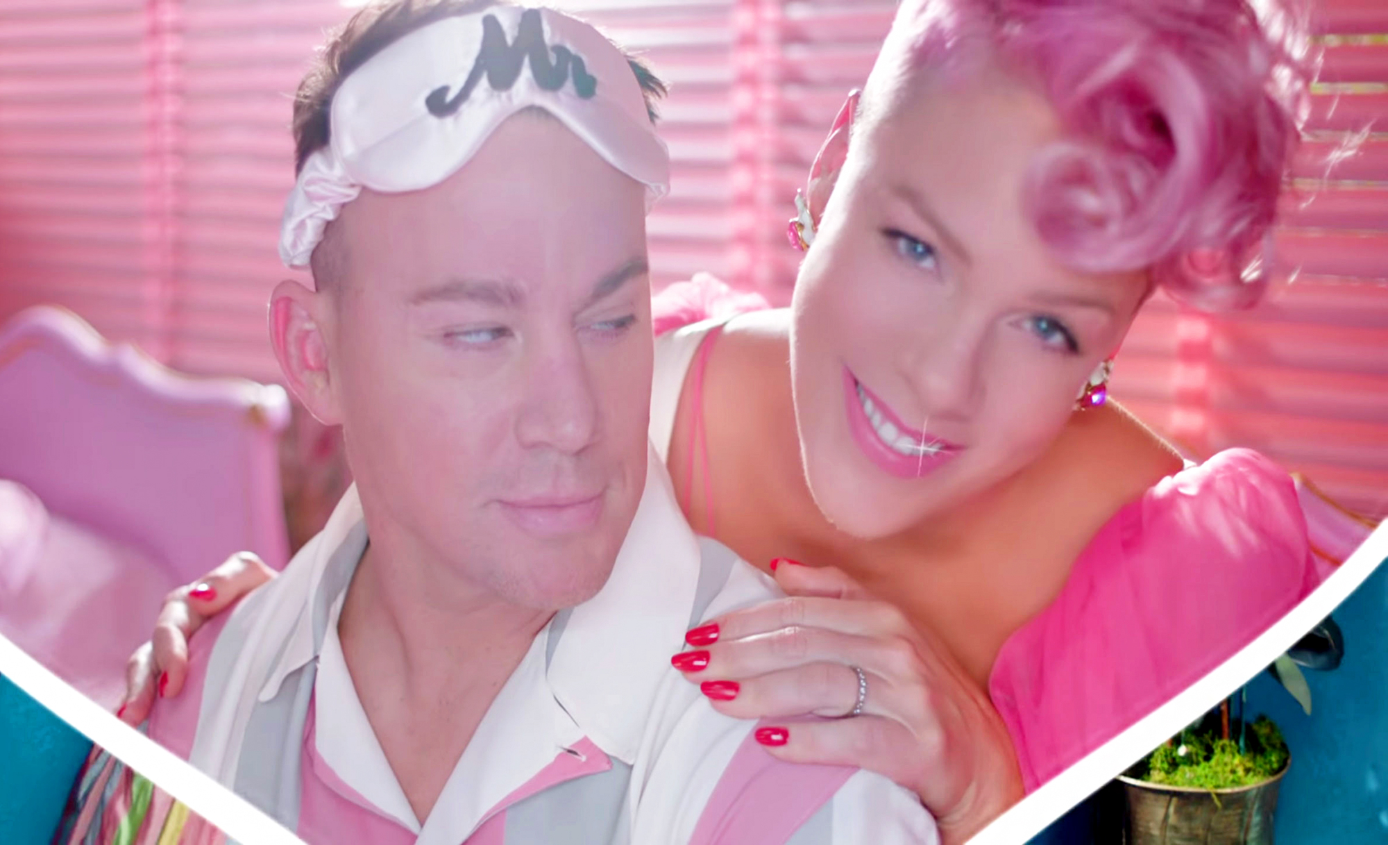 Pink Releases Her Music Video For 'Beautiful Trauma' Co-Starring Channing Tatum