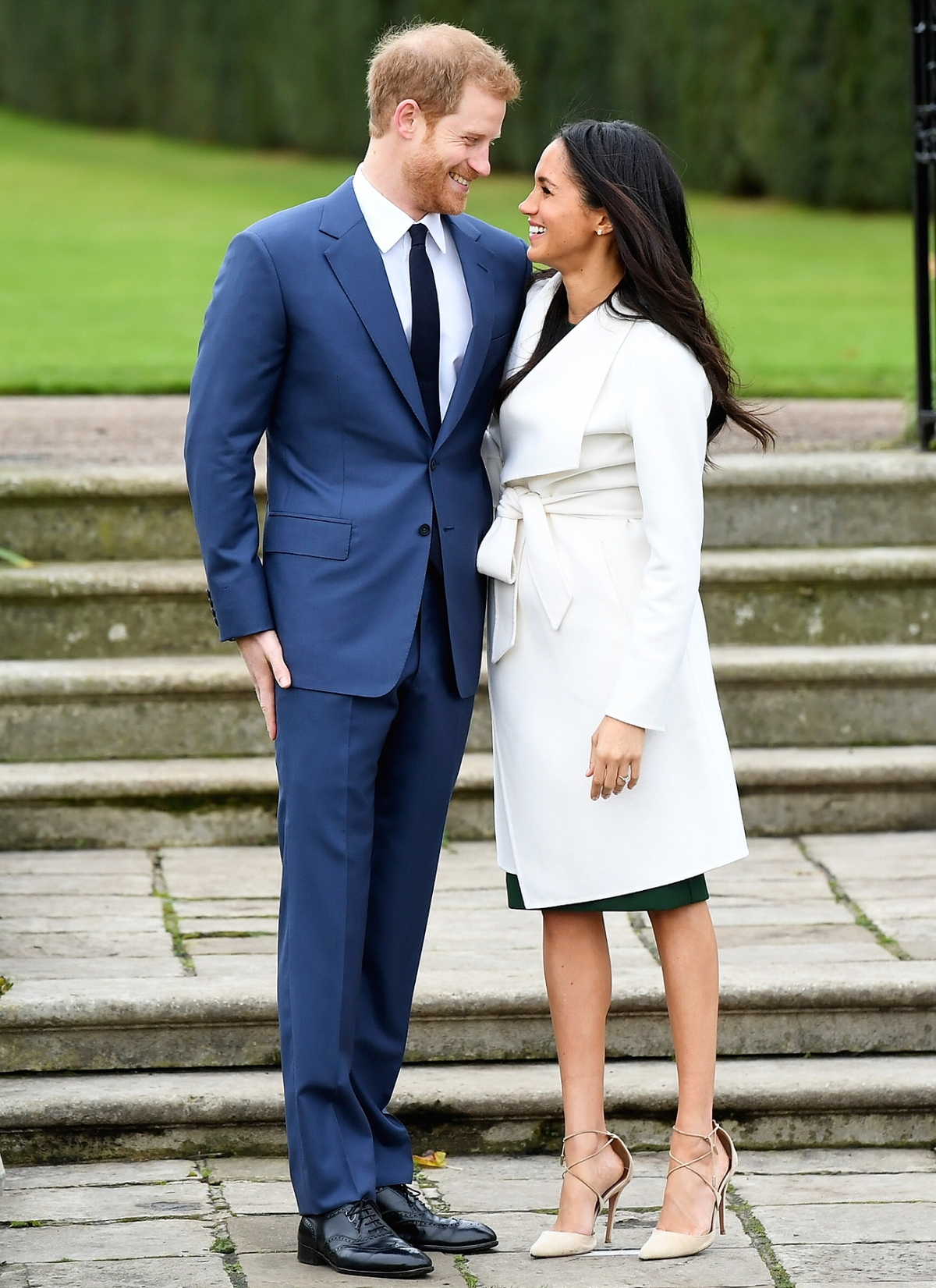 Meghan Markles Engagement Style Best Outfits Dresses Coats