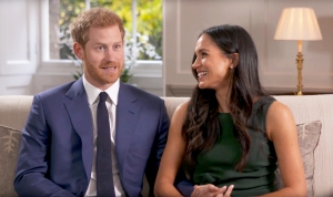 Prince Harry and Meghan Markle during BBC News interview