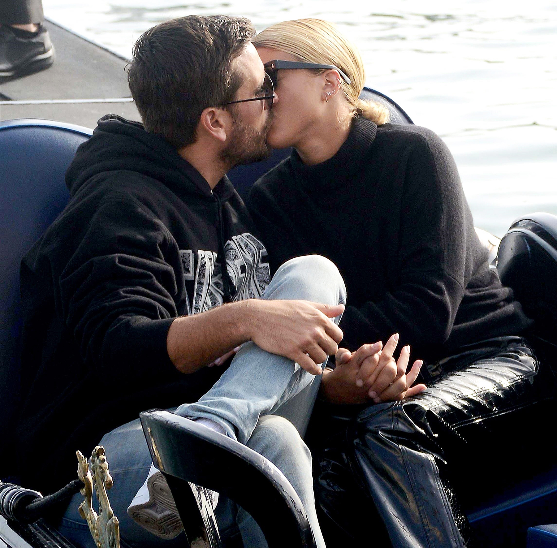 Scott Disick Sofia Richie kissing Venice
