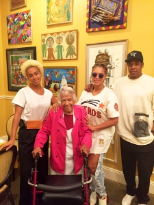 Solange, Beyonce and Jay Z with Leah Chase at Dooky Chase's Restaurant