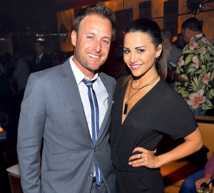 Chris Harrison and Andi Dorfman attend the pre-party for the 2014 Billboard Music Awards at Hyde Bellagio in Las Vegas, Nevada.