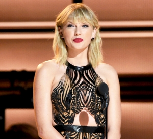 Taylor Swift during the 50th annual CMA Awards at the Bridgestone Arena in Nashville, Tennessee.