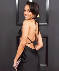 Tinashe arrives at the 59th Grammy Awards at the Staples Center in Los Angeles, California.